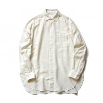 blurhms / Rough Silk Cotton Shirt - Natural BHS-18AW007SLK