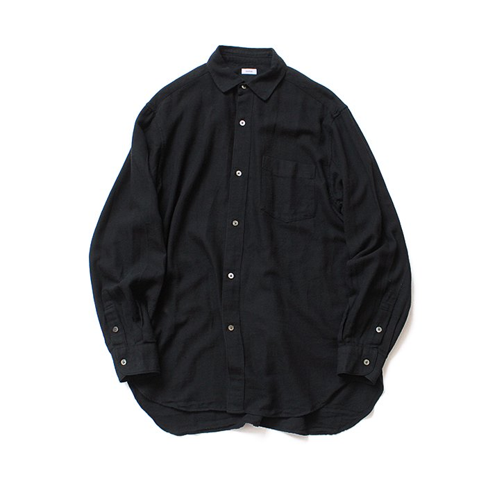 blurhms / Rough Silk Cotton Shirt - Black BHS-18AW007SLK