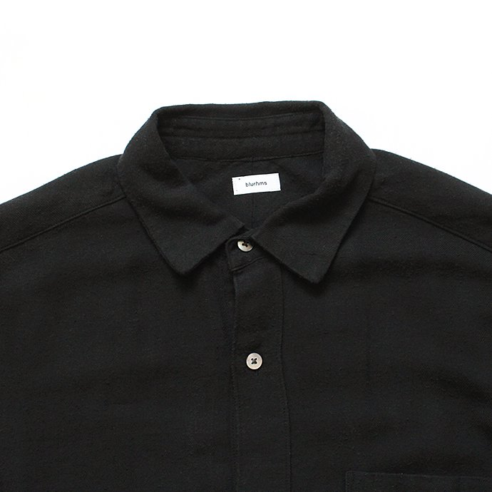 134584986 blurhms / Rough Silk Cotton Shirt - Black BHS-18AW007SLK 02
