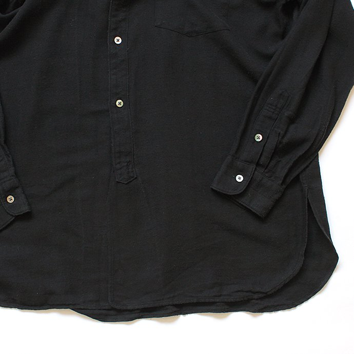 134585210 blurhms / Rough Silk Cotton Band Collar Shirt - Black BHS-18AW008SLK 02