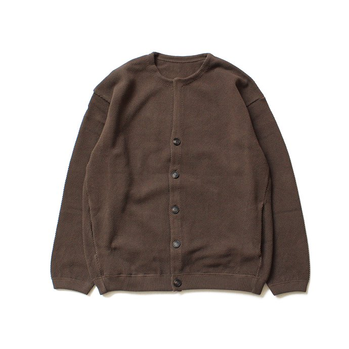 134654486 crepuscule / moss stitch cardigan 鹿の子編みカーディガン 1803-002 Brown<img class='new_mark_img2' src='//img.shop-pro.jp/img/new/icons47.gif' style='border:none;display:inline;margin:0px;padding:0px;width:auto;' /> 01