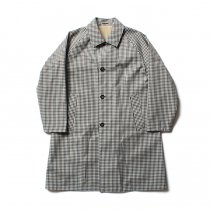 STILL BY HAND / CO0183 撥水リバーシブルコート - Green Gingham/Beige