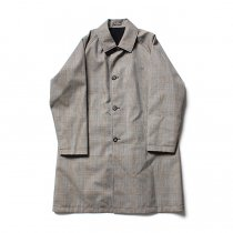 STILL BY HAND / CO0183 撥水リバーシブルコート - Grey Check/Black