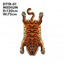 Tibetan Tiger Rug チベタンタイガーラグ DTTR-01 Mサイズ<img class='new_mark_img2' src='//img.shop-pro.jp/img/new/icons47.gif' style='border:none;display:inline;margin:0px;padding:0px;width:auto;' />