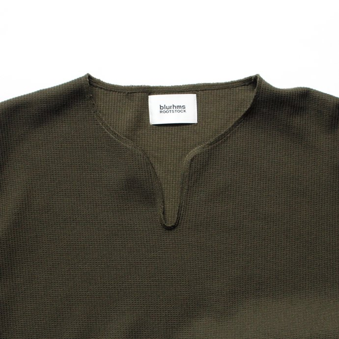 135103924 blurhms ROOTSTOCK / Rough & Smooth Thermal Loose Fit Over-neck L/S BHS-RKAW18002 - Olive 02