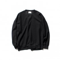 blurhms ROOTSTOCK / Rough & Smooth Thermal Loose Fit Crew-neck L/S BHS-RKAW18004 - Black