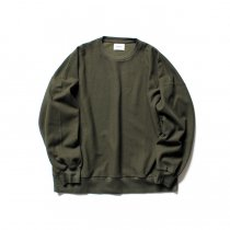 blurhms ROOTSTOCK / Rough & Smooth Thermal Loose Fit Crew-neck L/S BHS-RKAW18004 - Olive