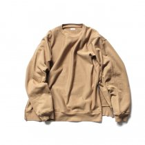 blurhms / High Density Sweat Side Zipper P/O BHS-18AW021 - Beige