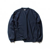 blurhms / High Density Sweat Side Zipper P/O BHS-18AW021 - Navy<img class='new_mark_img2' src='//img.shop-pro.jp/img/new/icons47.gif' style='border:none;display:inline;margin:0px;padding:0px;width:auto;' />