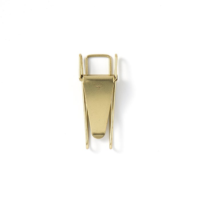 135274810 CANDY DESIGN & WORKS / Hopper Double Clip CHW-01 ホッパー ダブルクリップ - Brass 01