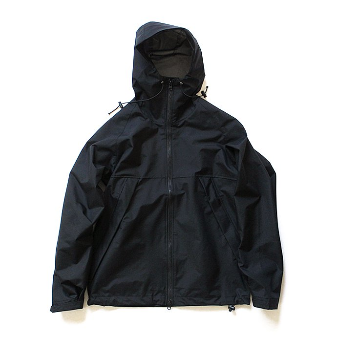 135572409 Powderhorn Mountaineering / M. Hoody ナイロンハードシェルパーカー PH18AW-001 - Black 01