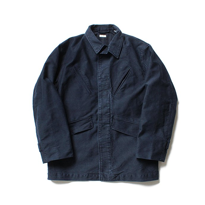 135745054 blurhms / Extra Heavy Cotton Moleskin Jacket BHS-18AW011 - Navy 01
