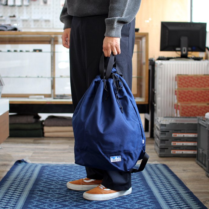 136189592 Powderhorn Mountaineering / P.H. DS Pack ドローストリングバックパック PHB-003 - Navy 02