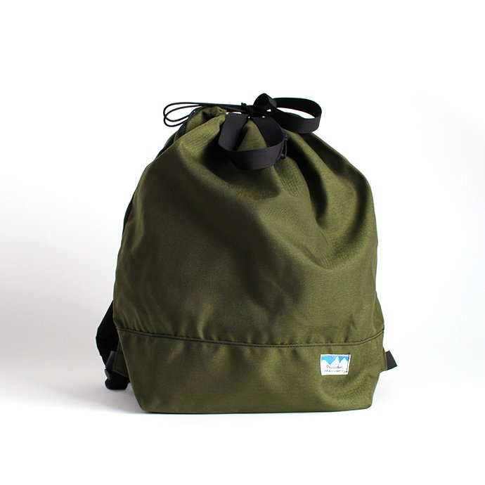 136189643 Powderhorn Mountaineering / P.H. DS Pack ドローストリングバックパック PHB-003 - Olive 01