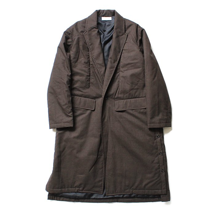 THEE(シー)/ WT-CO-02 padded gown coat 中綿入りガウンコート - Brown<img class='new_mark_img2' src='//img.shop-pro.jp/img/new/icons20.gif' style='border:none;display:inline;margin:0px;padding:0px;width:auto;' />
