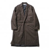 THEE(シー)/ WT-CO-02 padded gown coat 中綿入りガウンコート - Brown