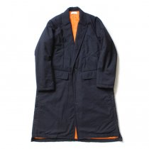 THEE(シー)/ WT-CO-02 padded gown coat 中綿入りガウンコート - Navy