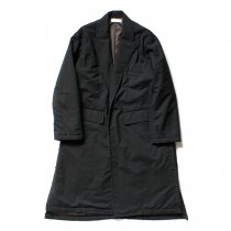 THEE(シー)/ WT-CO-02 padded gown coat 中綿入りガウンコート - Black