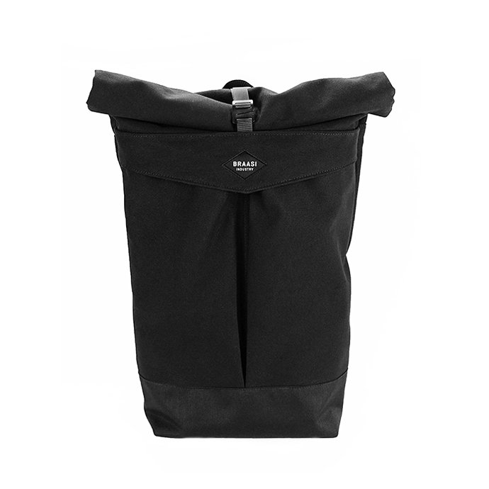 137061784 BRAASI INDUSTRY / LEVO - 25L Black 耐水ロールトップバックパック<img class='new_mark_img2' src='//img.shop-pro.jp/img/new/icons47.gif' style='border:none;display:inline;margin:0px;padding:0px;width:auto;' /> 01