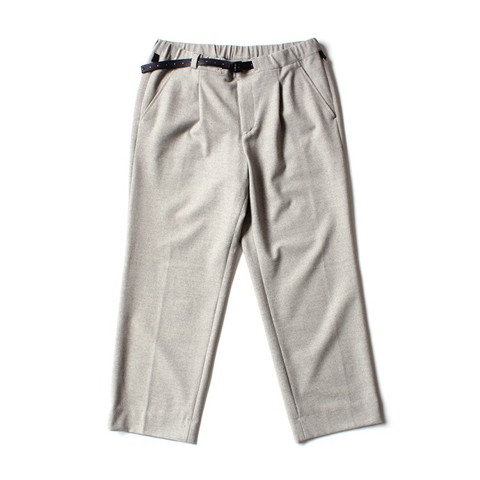 137338795 O-(オー)/ 19W-09 EASY TROUSERS イージートラウザーズ - Gray Herringbone 01