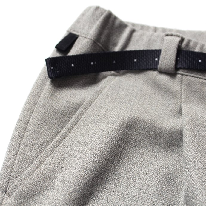 137338795 O-(オー)/ 19W-09 EASY TROUSERS イージートラウザーズ - Gray Herringbone 02