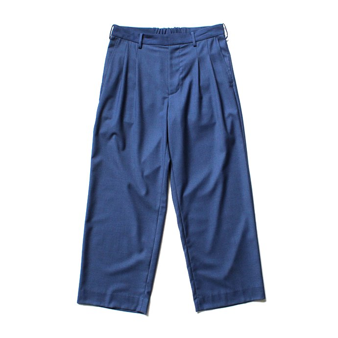 139490167 THEE(シー)/ 2 tuck wide. TR-PT-01 ツータックワイドスラックス - BLUE 01