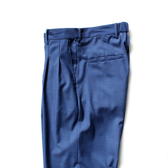 139490167 THEE(シー)/ 2 tuck wide. TR-PT-01 ツータックワイドスラックス - BLUE 02