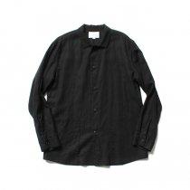 STILL BY HAND / SH0291 レイヤード シャツジャケット - Black