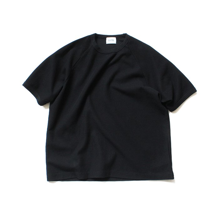 141509532 blurhms ROOTSTOCK / New Rough & Smooth Thermal Raglan Tee BHS-RKSS19008 - Black 01