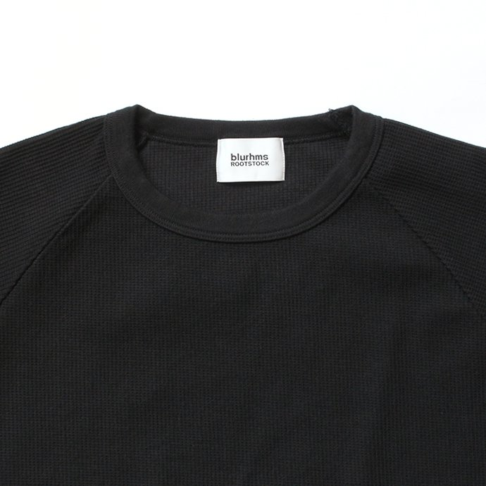 141509532 blurhms ROOTSTOCK / New Rough & Smooth Thermal Raglan Tee BHS-RKSS19008 - Black 02