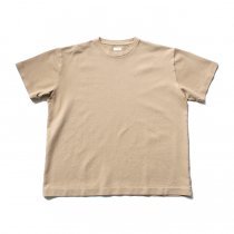 blurhms / Seed Stitch Box Tee BHS-19SS025-SED - Light Beige