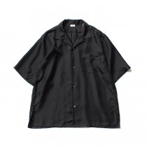 blurhms / Silk Open-Collar Shirt BHS-19SS023 - Black