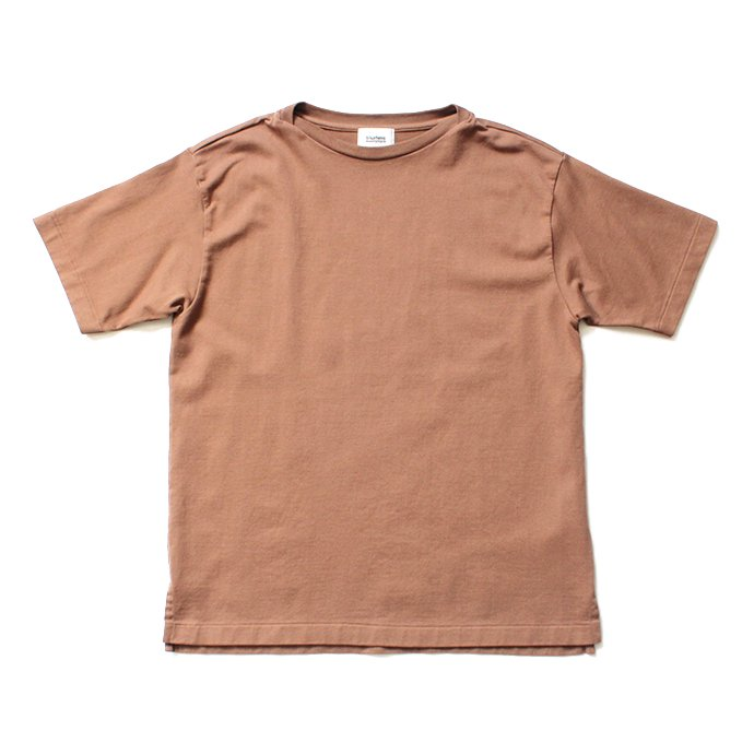 blurhms ROOTSTOCK / Middle-Weight & Super Soft Boat-Neck S/S BHS-RKSS19002 - Light Brown