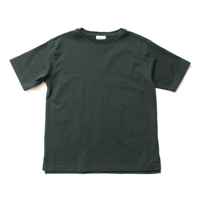 blurhms ROOTSTOCK / Middle-Weight & Super Soft Boat-Neck S/S BHS-RKSS19002 - Deep Olive