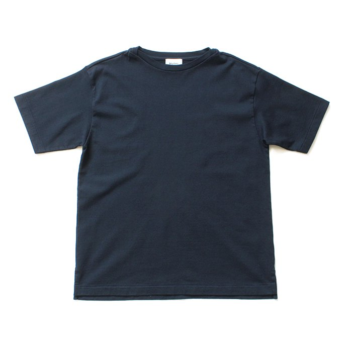 blurhms ROOTSTOCK / Middle-Weight & Super Soft Boat-Neck S/S BHS-RKSS19002 - Navy
