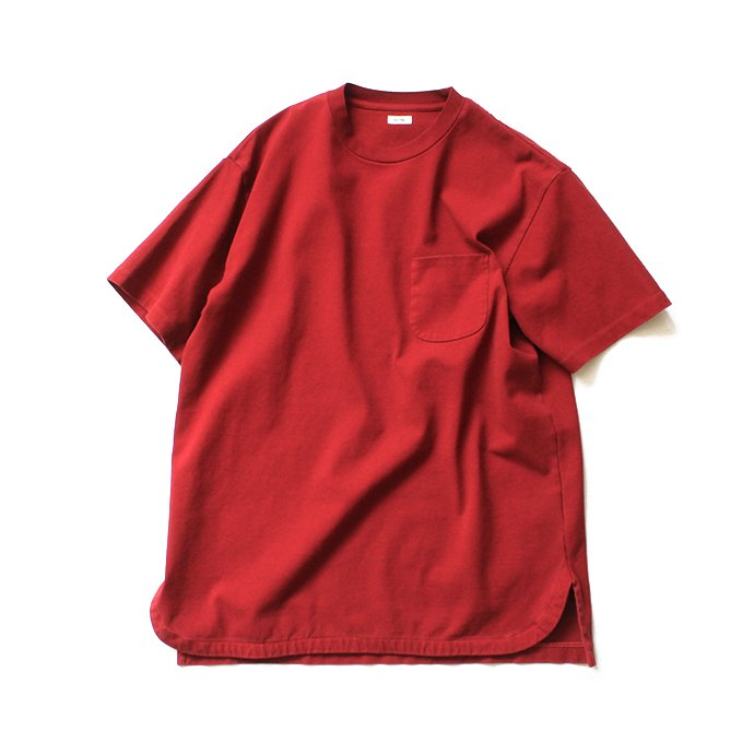 141608619 blurhms / Super Hard Twisted Pocket Long Tee BHS-19SS028 - Deep Red 01