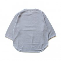 crepuscule / 7's round knit 7分袖クルーネックニット 1901-005 - L.Blue<img class='new_mark_img2' src='//img.shop-pro.jp/img/new/icons47.gif' style='border:none;display:inline;margin:0px;padding:0px;width:auto;' />