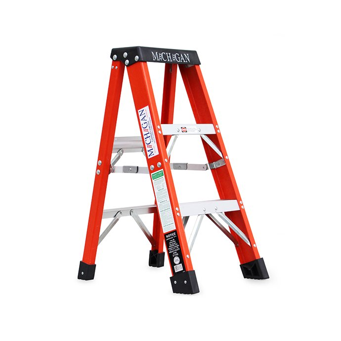 Michigan Ladder Company / Fiberglass Stepladder ファイバーグラスステップラダー - Size 3