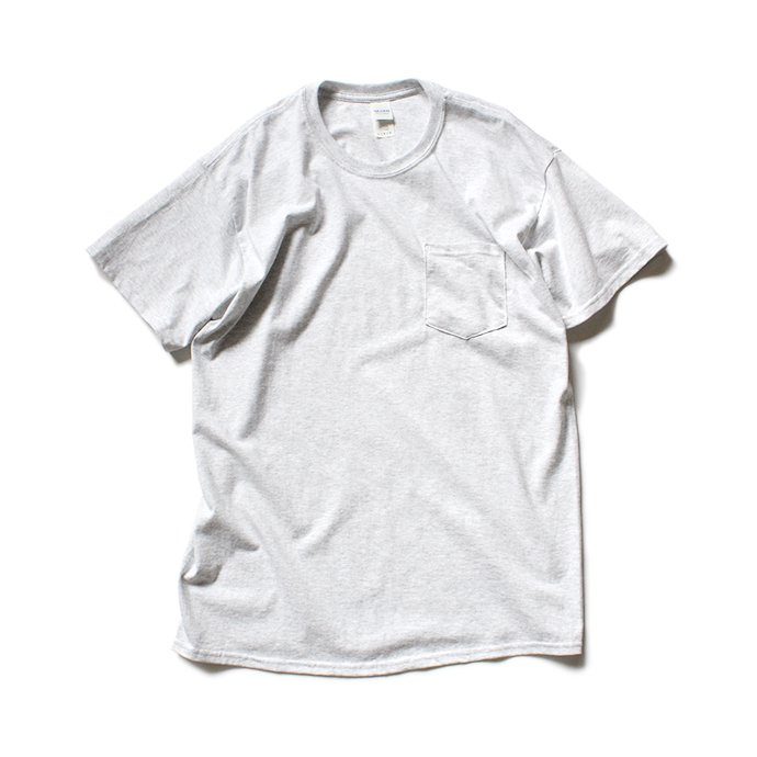 144311405 GILDAN / 2300 6.0oz Ultra Cotton Short Sleeve Pocket T-Shirt ウルトラコットン半袖ポケットTシャツ - Ash Grey 01