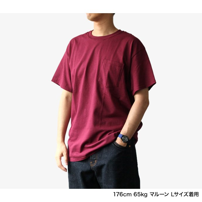 144311405 GILDAN / 2300 6.0oz Ultra Cotton Short Sleeve Pocket T-Shirt ウルトラコットン半袖ポケットTシャツ - Ash Grey 02