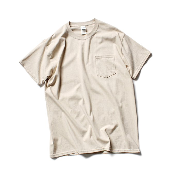 144311933 GILDAN / 2300 6.0oz Ultra Cotton Short Sleeve Pocket T-Shirt ウルトラコットン半袖ポケットTシャツ - Sand 01