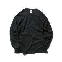 GILDAN / 2410 6.0oz Ultra Cotton Long Sleeve Pocket T-Shirt ウルトラコットン長袖ポケットTシャツ - Black