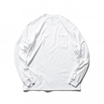 GILDAN / 2410 6.0oz Ultra Cotton Long Sleeve Pocket T-Shirt ウルトラコットン長袖ポケットTシャツ - White
