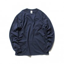GILDAN / 2410 6.0oz Ultra Cotton Long Sleeve Pocket T-Shirt ウルトラコットン長袖ポケットTシャツ - Navy
