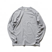GILDAN / 2410 6.0oz Ultra Cotton Long Sleeve Pocket T-Shirt ウルトラコットン長袖ポケットTシャツ - Sport Grey