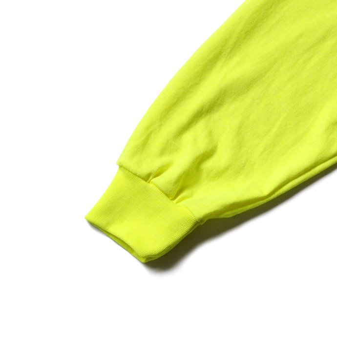144330395 GILDAN / 2410 6.0oz Ultra Cotton Long Sleeve Pocket T-Shirt ウルトラコットン長袖ポケットTシャツ - Safety Green 02