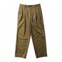 THEE(シー)/ high-rise wide trousers ハイウエストワイドトラウザーズ HT-PT-02-B Olive
