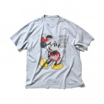 Hexico / American Cartoon Tee Ex. Used Tee Reflector Print リメイクプリントTシャツ02 グレーXL