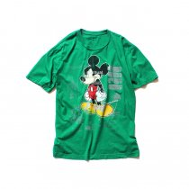 Hexico / American Cartoon Tee Ex. Used Tee Reflector Print リメイクプリントTシャツ03 グリーンM