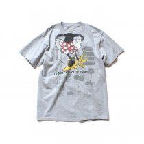 Hexico / American Cartoon Tee Ex. Used Tee Reflector Print リメイクプリントTシャツ04 グレーM